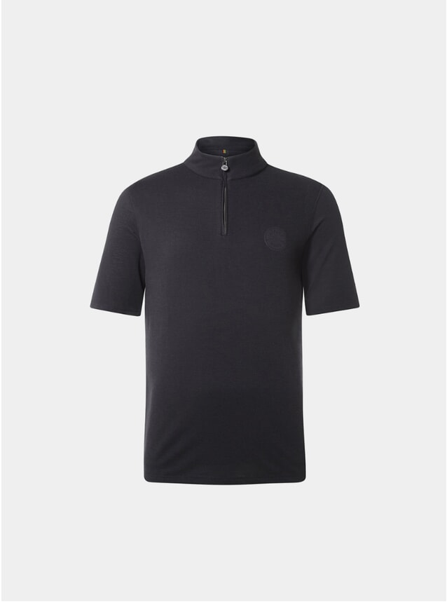 Gravel Black Sidmouth Half Zip Top