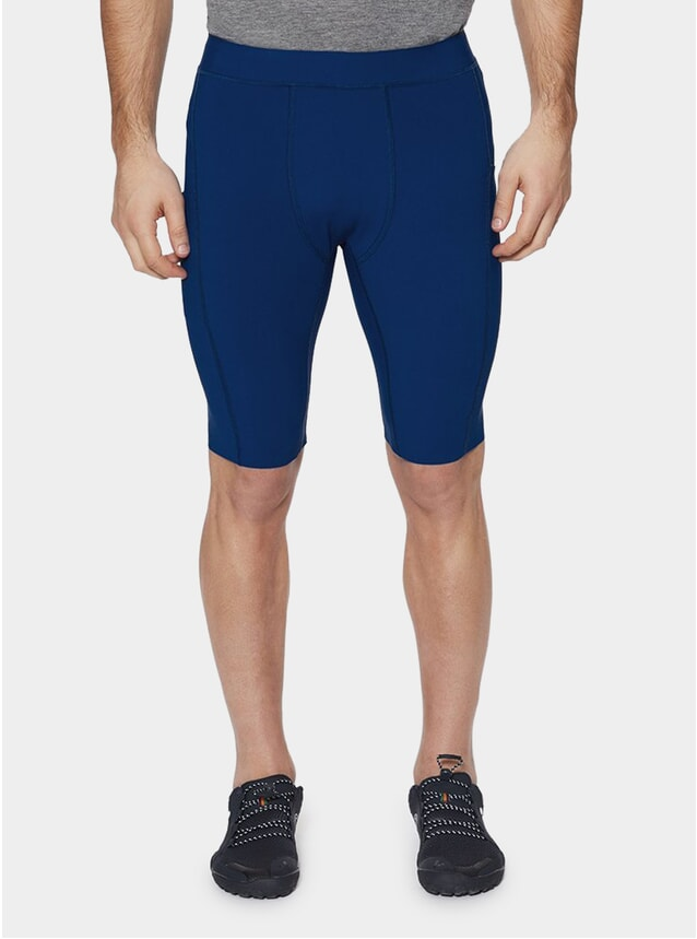"Raceday Blue Chester 10"" Compression Shorts"