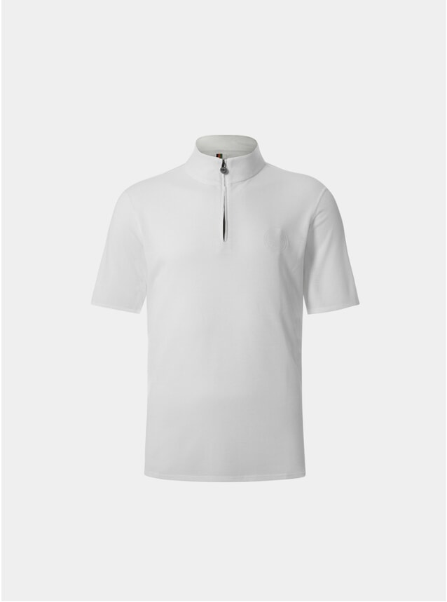 White Sidmouth Half Zip Top