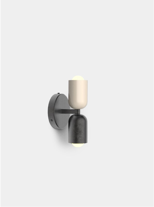 Taupe / Blackened Steel Up / Down Sconce