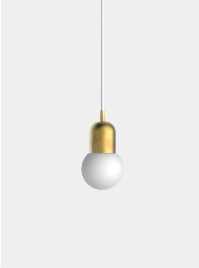 Brushed Brass Small Orb Pendant