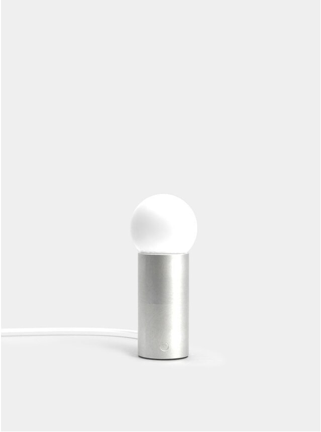 Brushed Steel Orb S Table Lamp