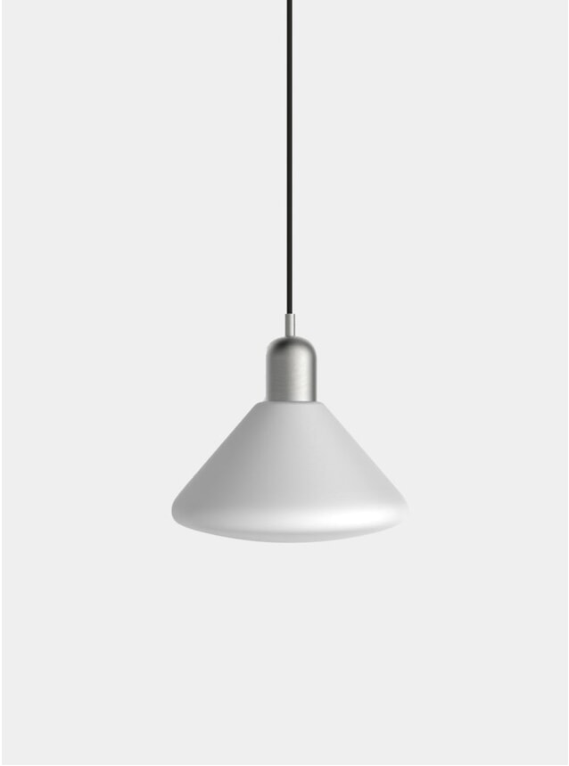 Brushed Steel Triangle Pendant