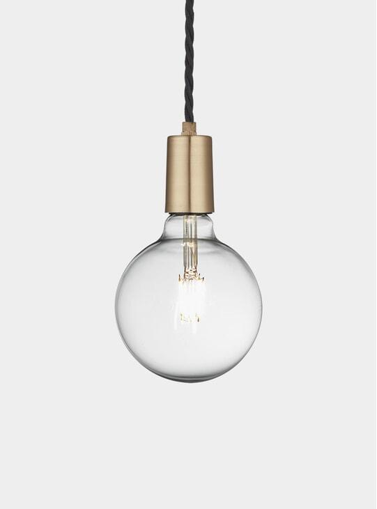 Brass Vintage Sleek Edison Wire Pendant
