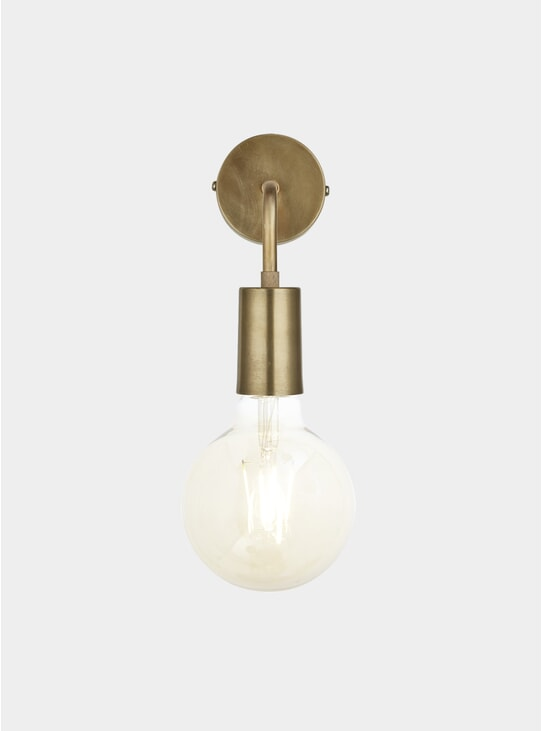 Brass Vintage Sleek Edison Wall Light