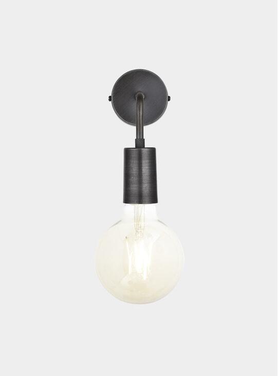 Pewter Vintage Sleek Edison Wall Light