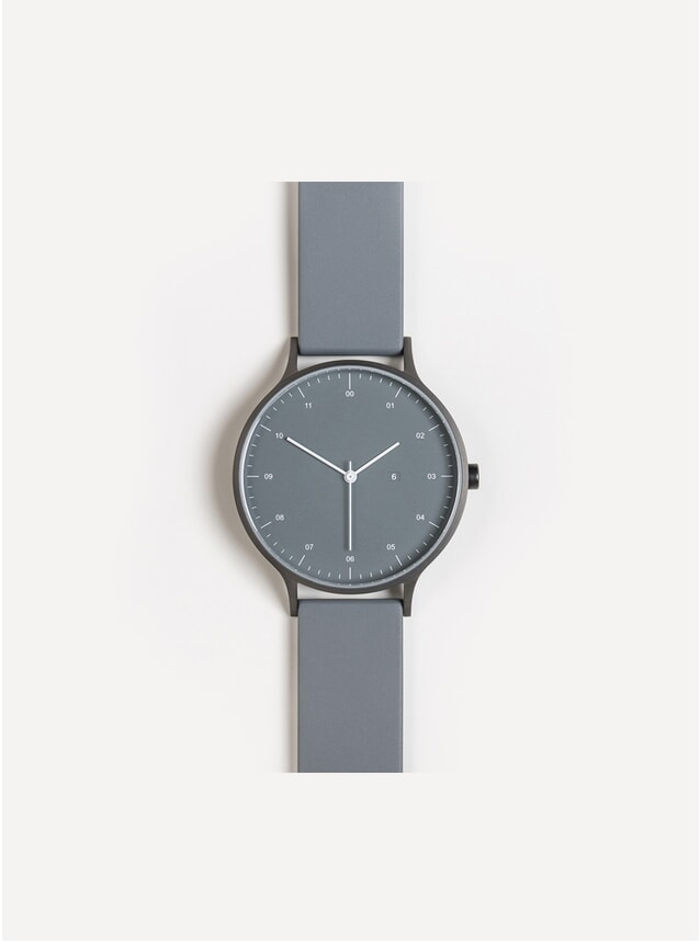 K-61 Gunmetal / Mid Grey Rubber Watch