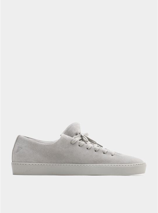 Light Grey Suede Atom Sneakers