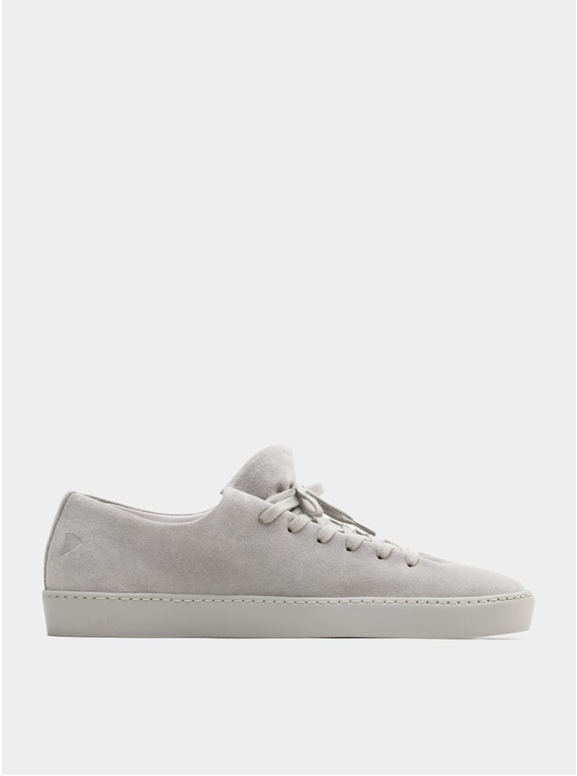 Light Grey Suede Atom Sneakers