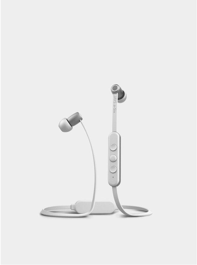 Silver / White A-Six BT Earphones