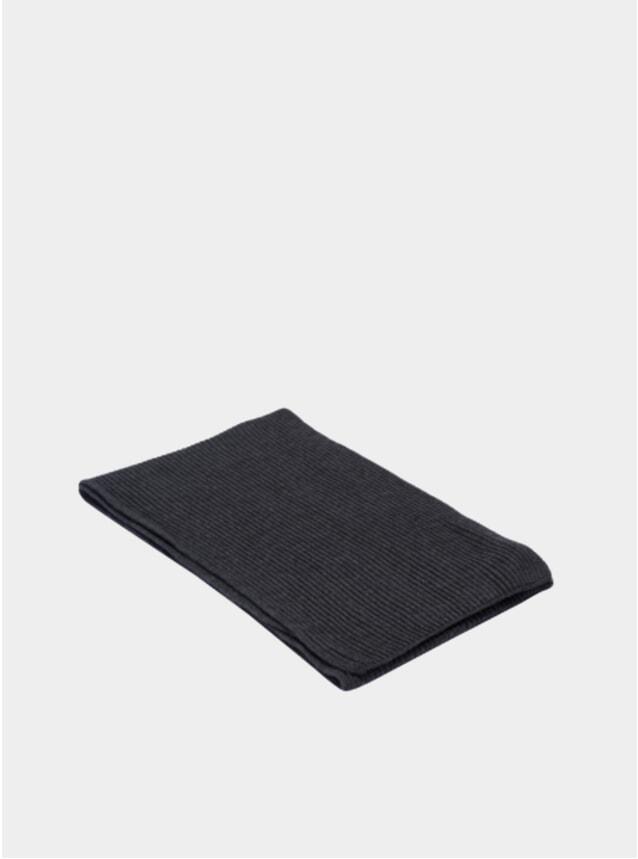 Charcoal Rib Scarf