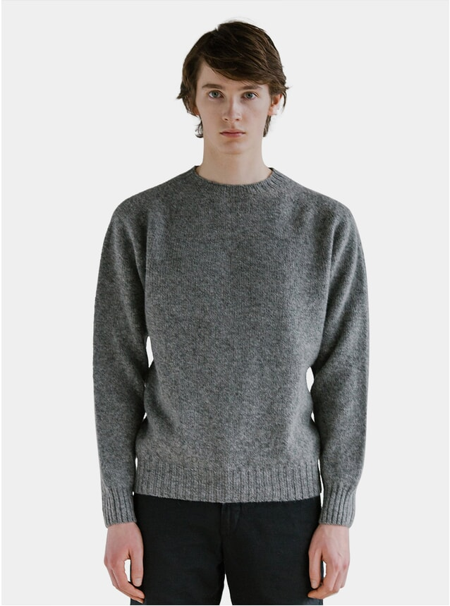 Grey Shetland Sweater