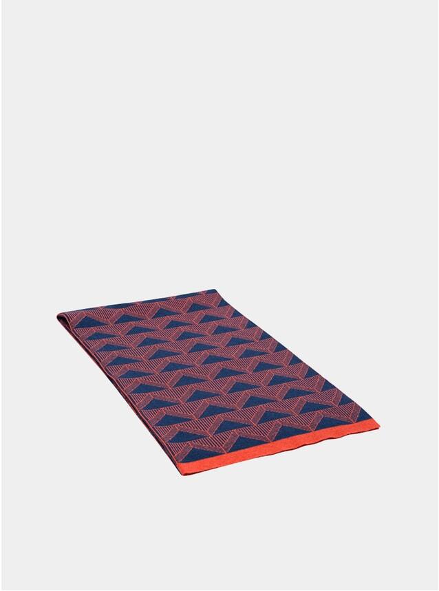 Navy / Orange Blanket