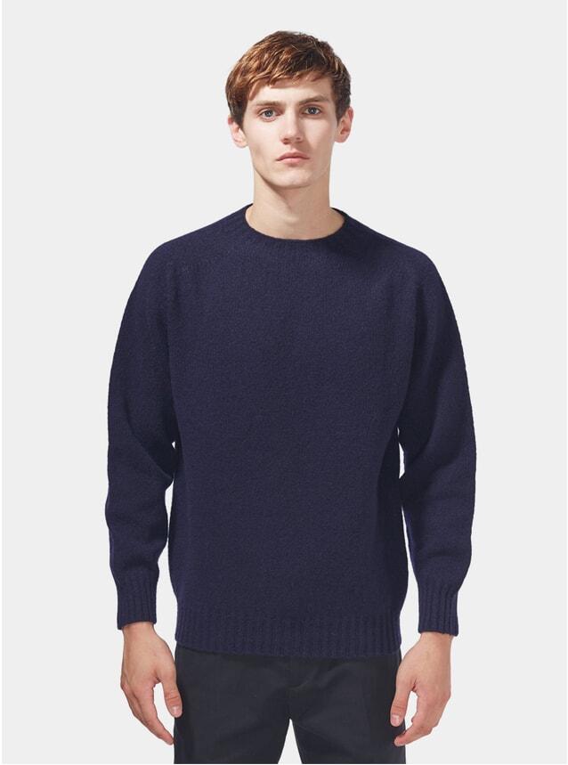 Navy Shetland Sweater