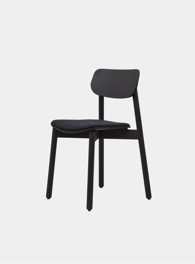Black / Grey Wool Upholstered Otis Dining Chair