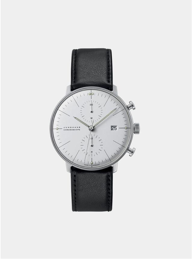 Black / White Max Bill Chronoscope 027/4600.04 Watch