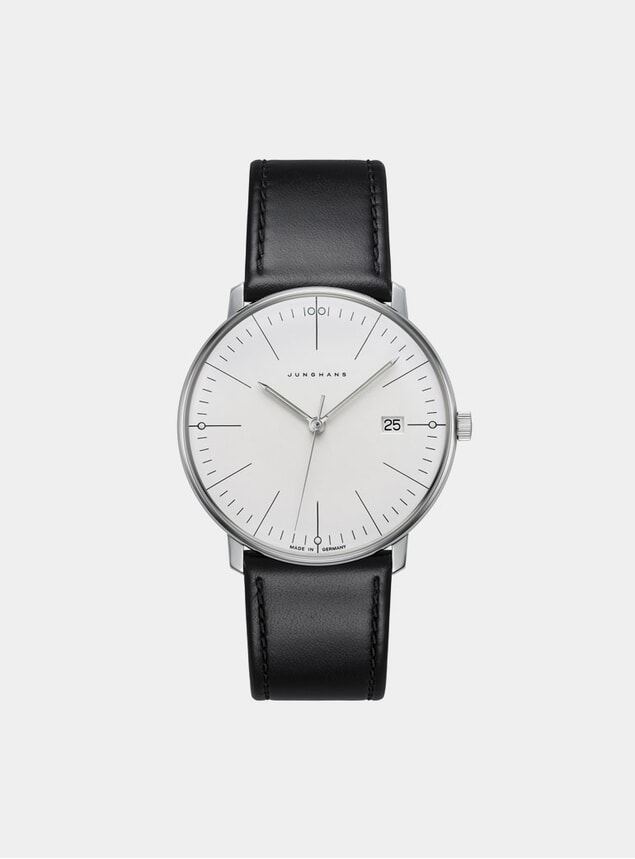 Black / White Max Bill Quartz 041/4817.00 Watch