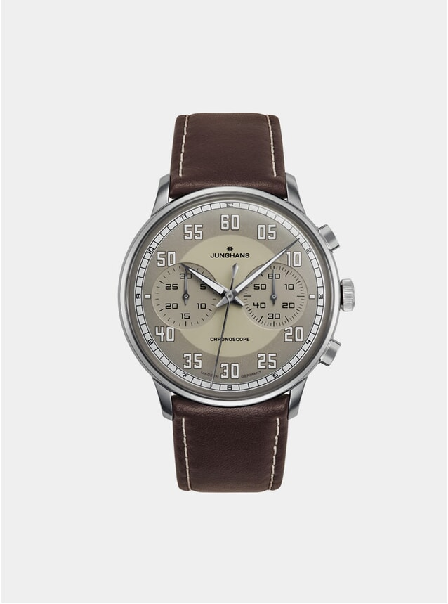 Brown / Stainless Steel Meister Driver Chronoscope 027/3684.00 Watch