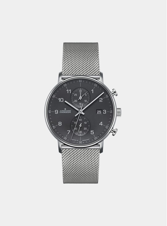 Grey / Stainless Steel Bracelet Form C Chronoscope 041/4877.44 Watch