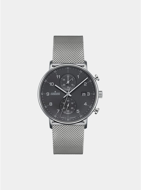 Grey / Stainless Steel Bracelet Form C Chronoscope 041/4877.44 Watch
