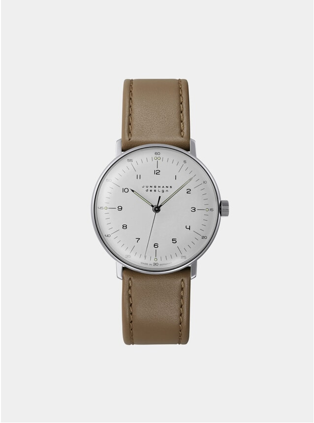 Tan / White Max Bill Hand-Winding 027/3701.00 Watch
