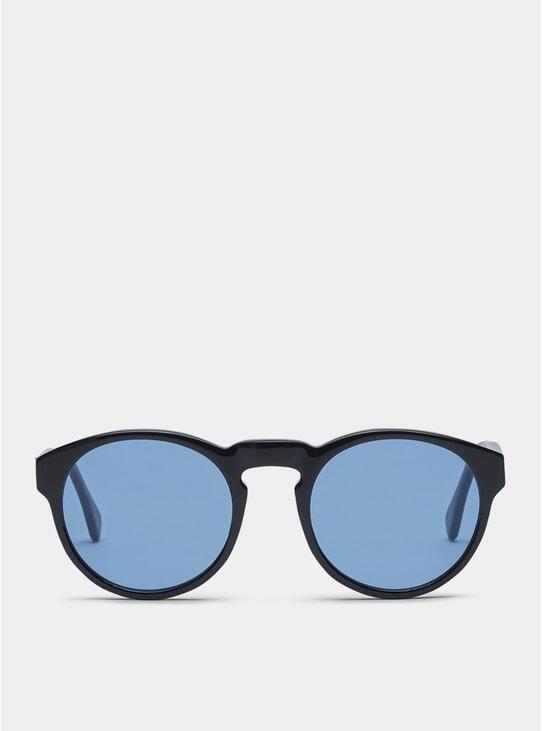 Black / Blue Blow Sunglasses