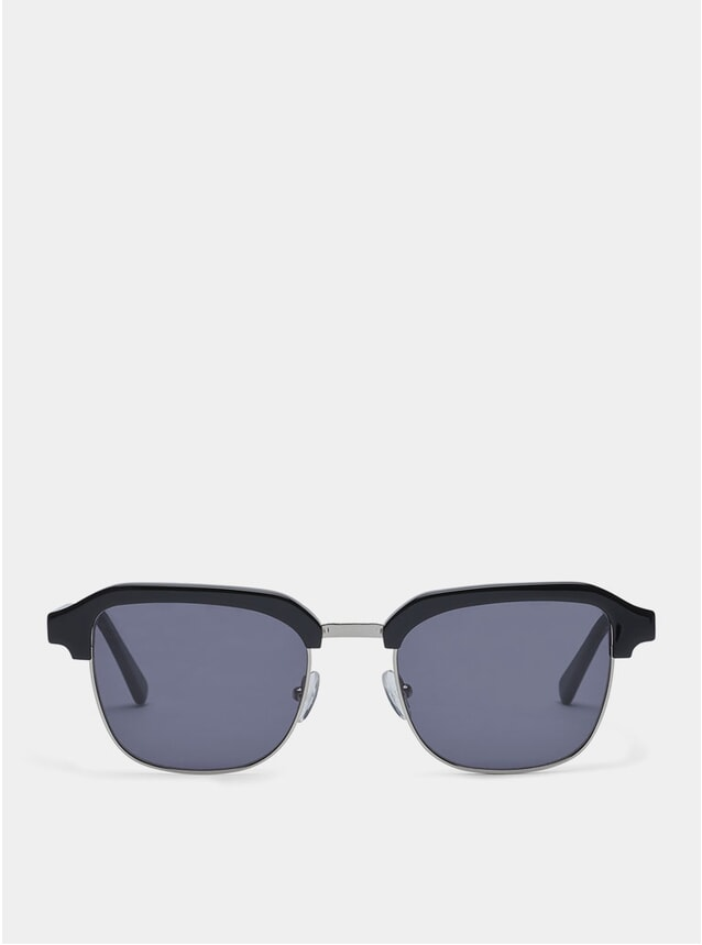 Black / Metal Grey Continental Sunglasses