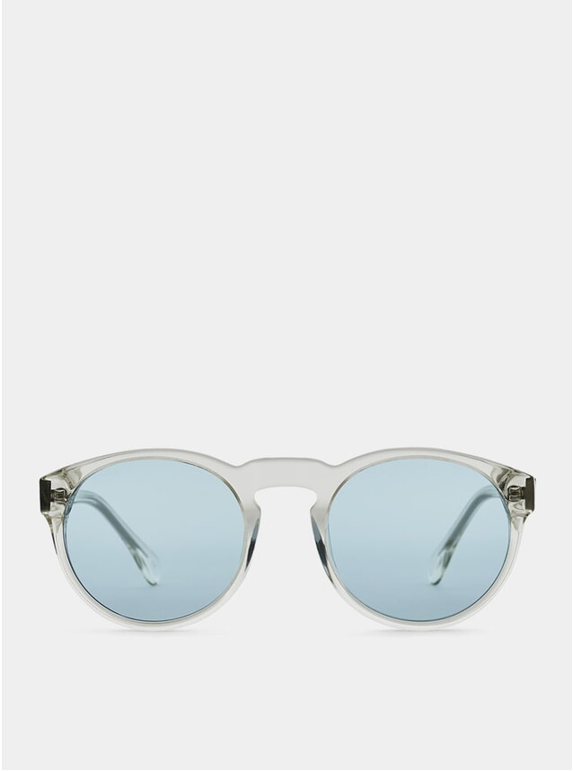 Clear / Blue Blow Sunglasses