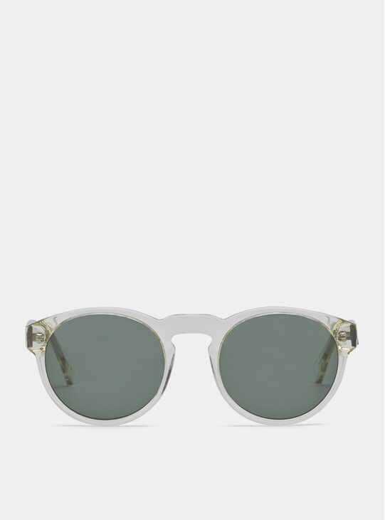 Clear / Green Blow Sunglasses