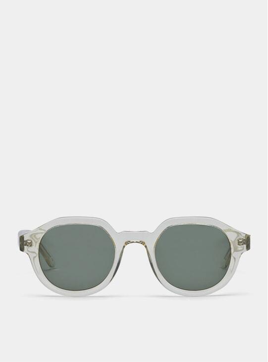 Clear / Green Palermo Sunglasses
