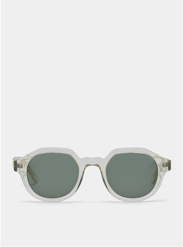 Clear / Green Palermo Sunglasses