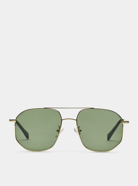 Gold / Green The Dude Sunglasses