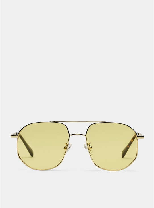 Gold / Yellow The Dude Sunglasses
