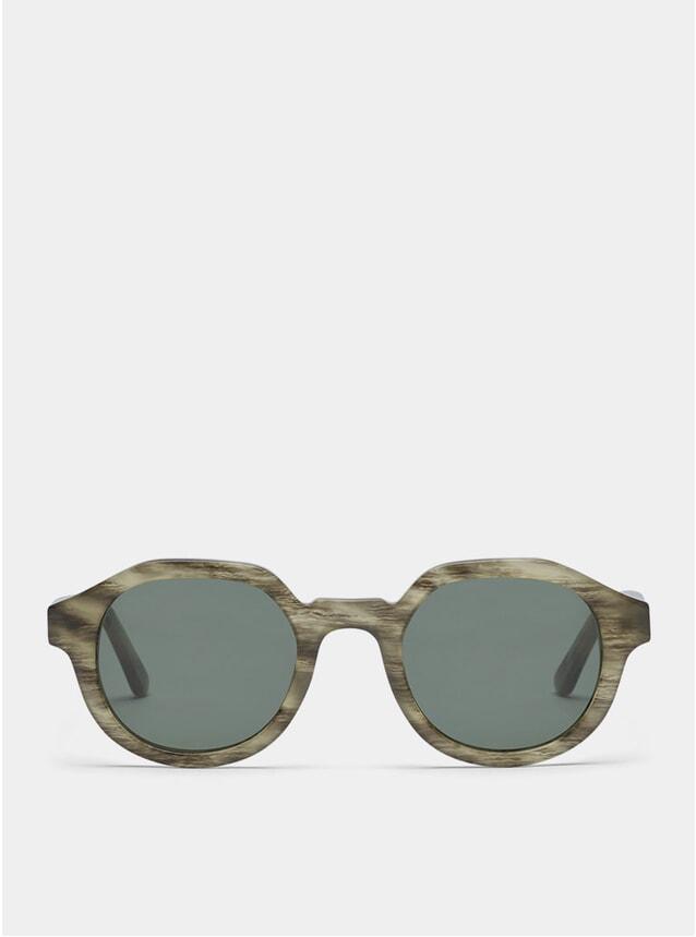 Grey Tiger / Green Palermo Sunglasses