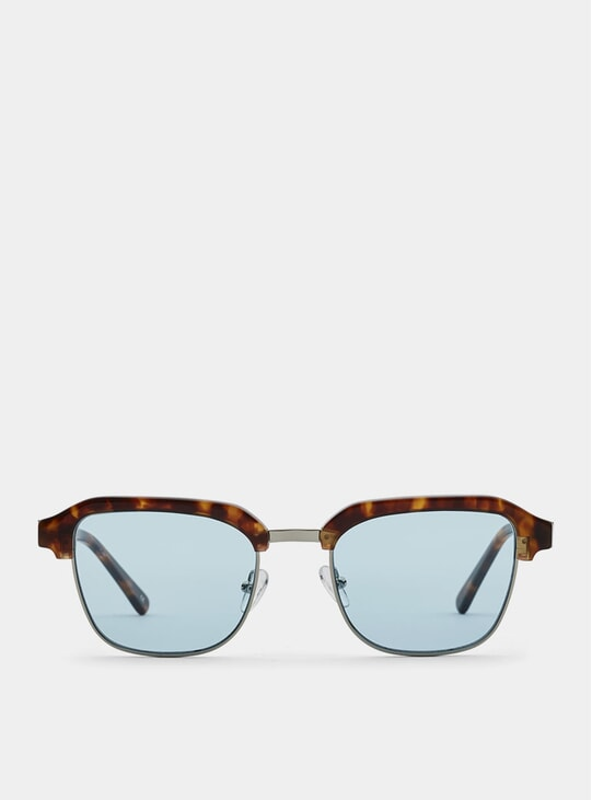 Lava Metal / Blue Continental Sunglasses