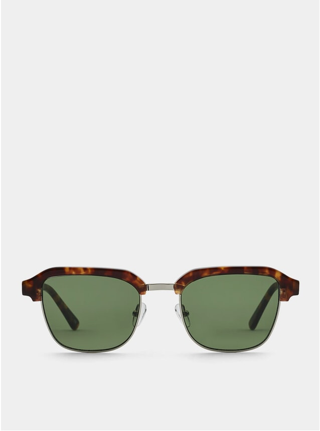 Lava Metal / Green Continental Sunglasses