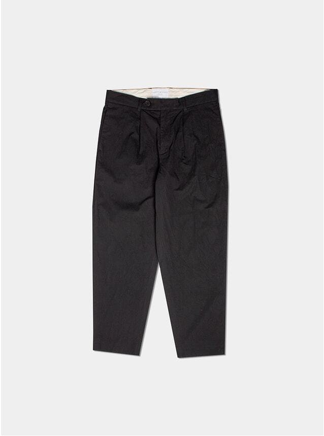Black Mini Herringbone Wick Trousers