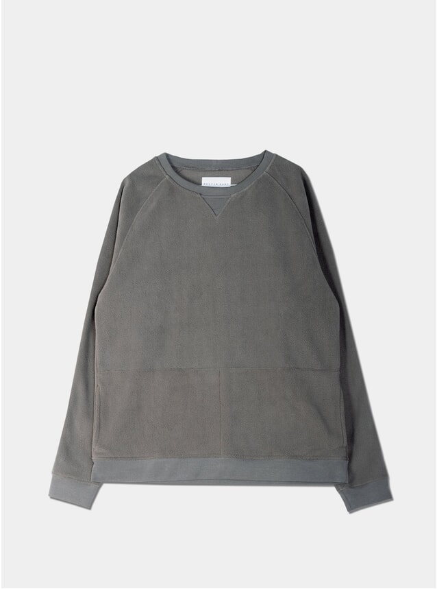 Heather Grey Polar Fleece Haymarket Sweatshirt