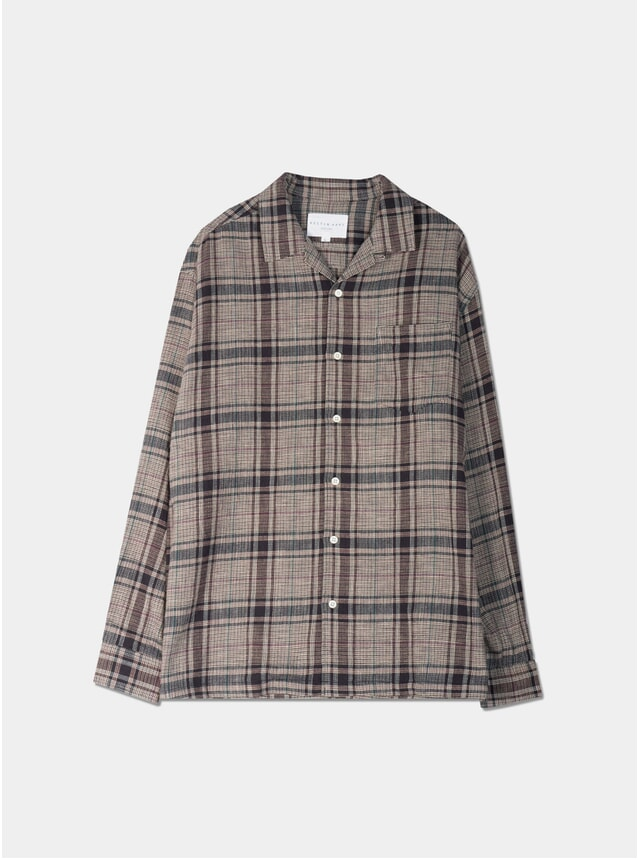 Lavender Cotton Check Tain Shirt