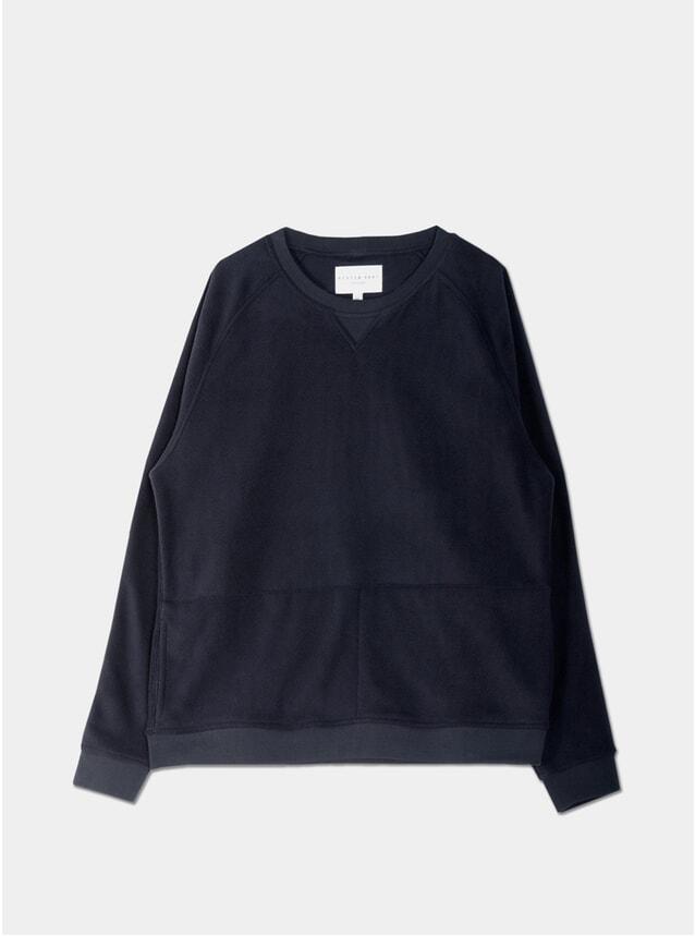 Navy Polar Haymarket Sweatshirt