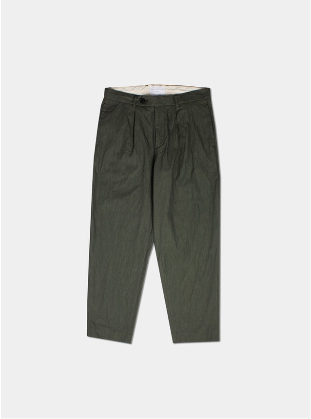 Olive Mini Herringbone Wick Trousers