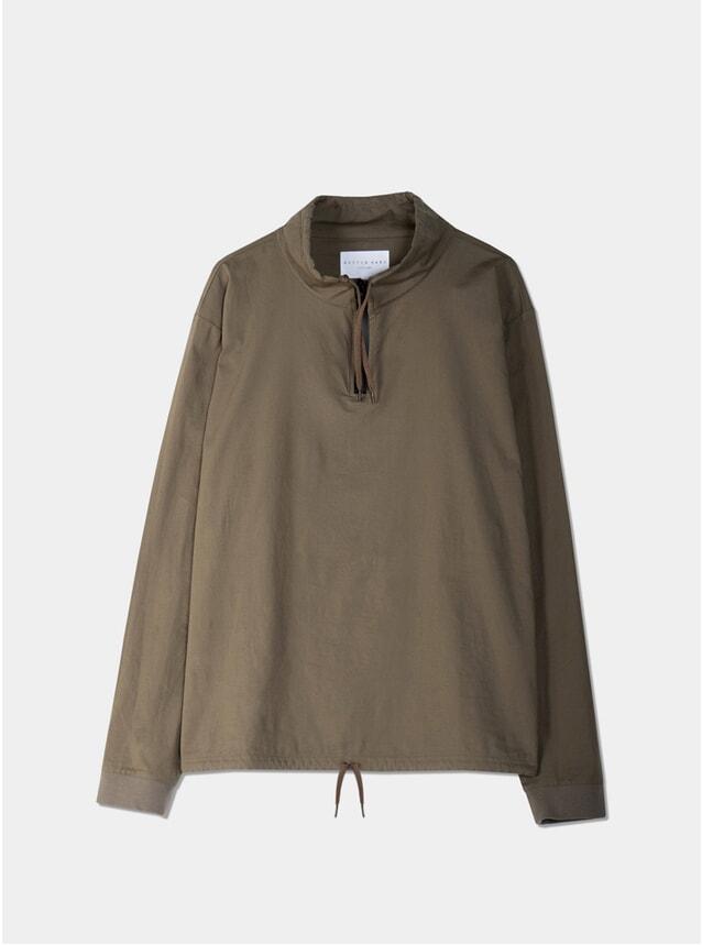 Olive Woven Stretch Cotton Crieff Sweatshirt