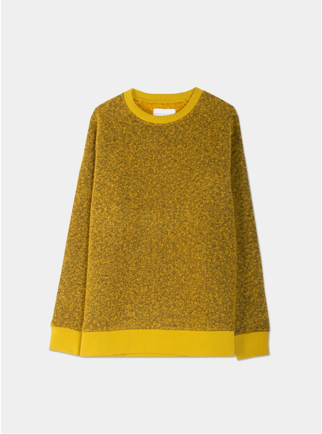 Pollen Yellow Boiled Wool Durness Sweatshirt