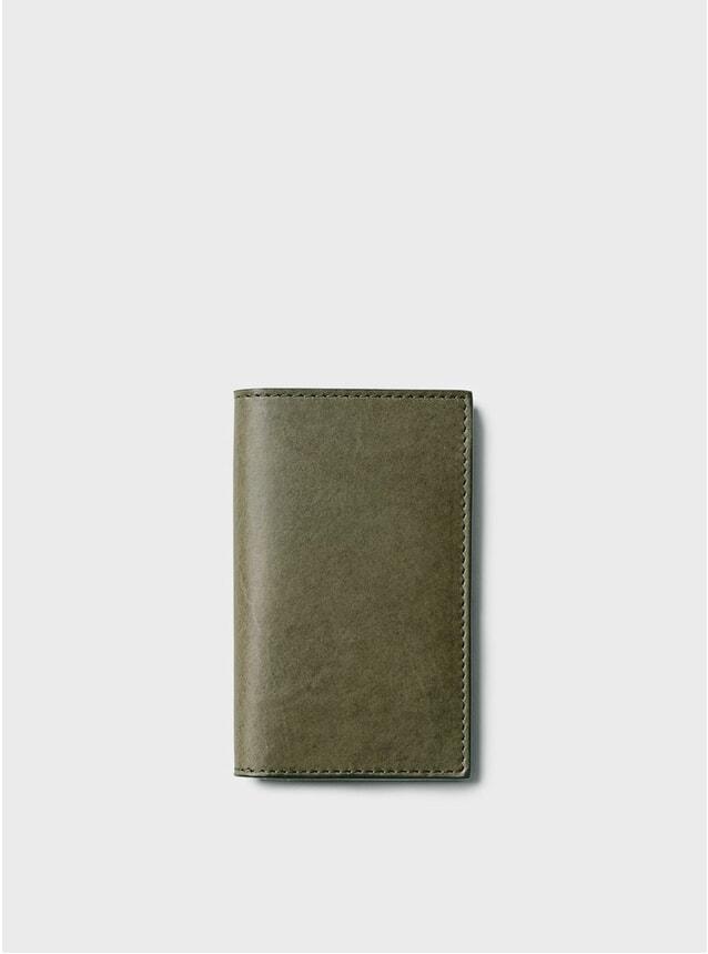 Khaki Simple Slim Card Wallet