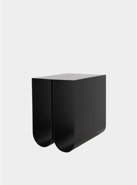 Black Curved Side Table