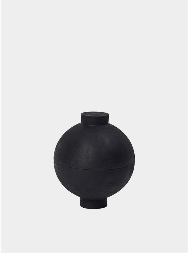 Black Wooden Sphere