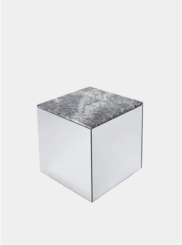 Grey Marble Mirror Table