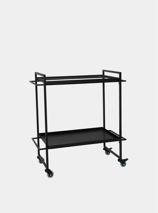 Black Bauhaus Bar Trolley