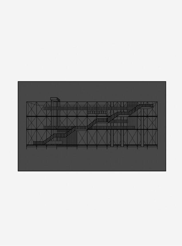 Black Pompidou Print