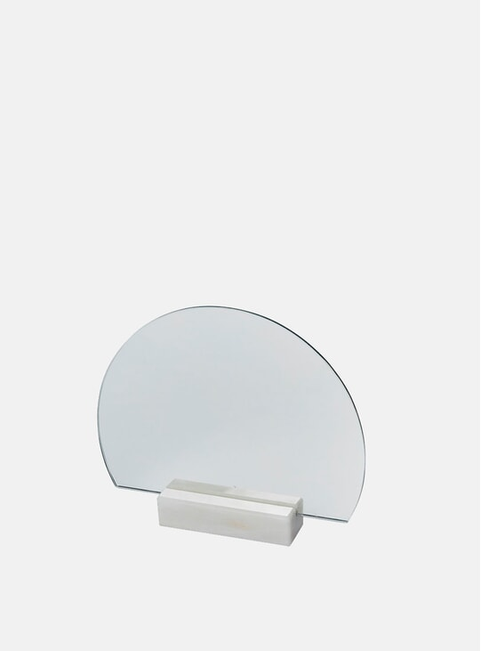 Normal Marble Half-Moon Mirror